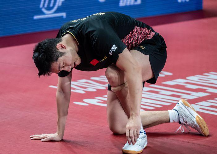 Xu Xin lief in Bremen zur Bestform auf, scheiterte aber im Finale an seinem Landsmann Fan Zhendong. (©Gohlke)