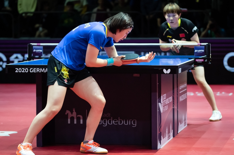 ...auf ihre Landsfrau Zhu Yuling. Die musste sich der Weltranglistenersten... (©Gohlke)